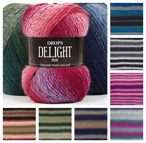Drops Delight Multi-tonal Superwash Treated Sock Wool 4Ply Fingering Yarn