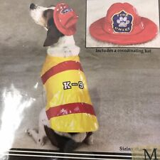 Zack & Zoey Dog Canine Halloween Costume Pawfield Fire Chief Red Yellow Size M