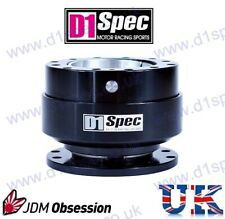 D1 SPEC STEERING WHEEL QUICK-RELEASE UNIVERSAL FULL BLACK JDM
