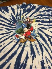 "Disney World ""Four Parks, One World"" Tie Dye T-Shirt Size XXL"