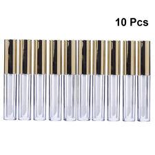10PCS 10ml Empty Lip Gloss Tubes Lip Container Plastic PET Clear Balm Bottle