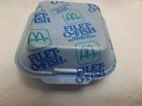 Vintage 1980's McDonald's Filet O Fish Styrofoam Clamshell Food Container