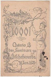 Künstler Studentika Ak 1000 Quinta B Bischofswerda Sachsen 1920 ! (A1574