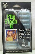 Vintage GE Flip Flash II Camera Flash Bulb Bar Original New in Package Twin Pack