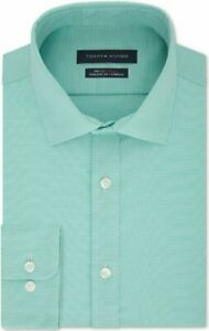 Tommy Hilfiger Th Flex Athletic Fit Non-Iron Stretch Micro-Stripe Shirt, 17 $79