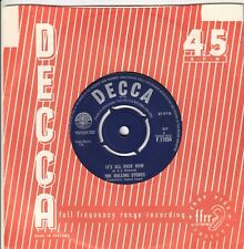 "THE ROLLING STONES..IT`S ALL OVER NOW..EXCELLENT 1964 DECCA POP / BEAT 7""F.11934"