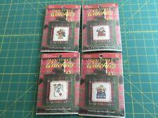 Lot of 4 Holiday Cross Stitch Kits/Ornaments