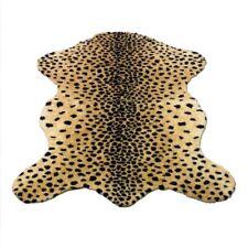 CHEETAH FAUX FUR ANIMAL SKIN HIDE PELT RUG 5x7 NEW - Made in France Faux Fur Rug