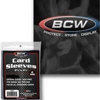 BCW Standard Card Penny 2mil Sleeves Trading Gaming Baseball Football Basketball