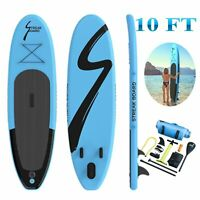 """10'Inflatable Stand Up Paddle Board Surfing SUP Boards Non-slip Deck 6"""" Thick US"""