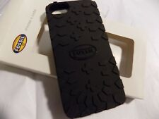 Fossil Black Boot Print iPhone 5 Soft Rubber Case Cover-NIB- Free Shipping