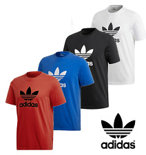 Adidas Men's Short-Sleeve Trefoil Logo Graphic T-Shirt Mens Active Wear Sport