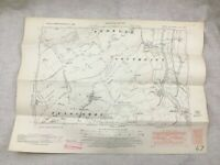 1950 Vintage Mappa Di East Sussex Rodmell Southease Telscombe Piddinghoe