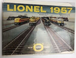 Vintage  Lionel  train catalog 1957 New Super O Track Engines Cars