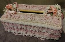 Vintage Pink Frilly Lace Handmade Tissue Box Cover