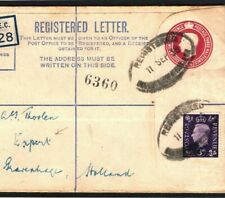 GB WW2 Cover London Registered Early Wartime Use RP47 4½d NETHERLANDS 1939 K264b