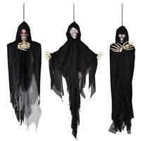 3x Animated Scary Halloween Skeleton Prop Sound Movement Haunted House Hanging