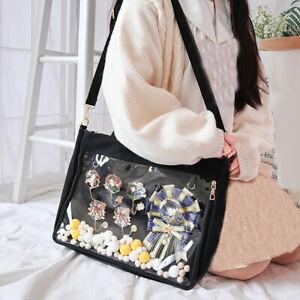 Japanese Transparent Clear Color Shoulder Bag Handbag Itabag Canvas Lolita Bags