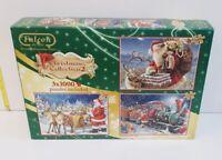 Vintage Christmas Collection 2 Puzzles 3x1000 Pieces Falcon De Luxe