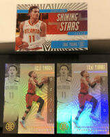 Trae Young LOT(3) 2019-20 Illusions #12 Shining Stars Sapphire Blue & #136 Base