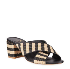 Kate Spade New York Walter Natural/Black Raffia Heels size 7.5 $178