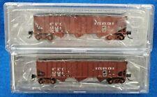 N Scale BLUFORD SHOPS 14492 SEABOARD AIR LINE 14-Panel Rib Side Hopper Car 2-Pak