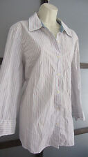 Tommy Hilfiger Woman Shirt Button Down Red White Blue Striped Sz 20