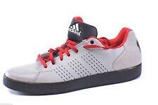 NEW Adidas Mens Sz 8 Rose Lakeshore Low Basketball Shoes Sneakers Gray Red NIB