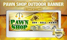 Pawn Shop we buy gold silver coins cash OUTDOOR BANNER sign poster neon