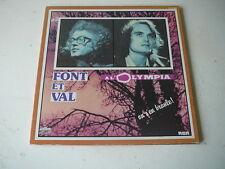 Font et Val à l'Olympia  33 tours LP