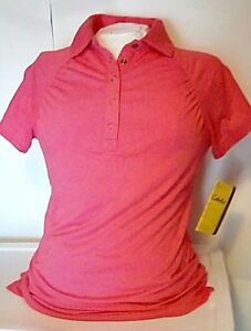 NEW Cabela's Women's Triune Short Sleeve Polo Shirt Melon Size Small