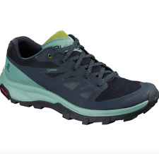 SALOMON - Women's OUTline GTX Hiking Shoe Trek Trellis Navy Blazer Guac - 8 NIB