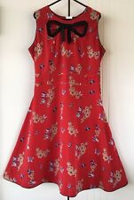 Womens Trollied Dolly Red Cherry Blossom Butterfly Finders Peepers Dress Size L