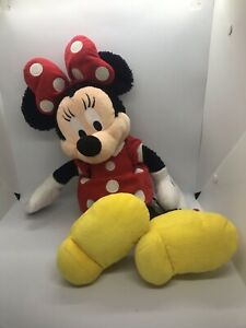 Disneyland Walt Disney World Large Minnie Mouse Childrens Soft Toy Plush VGC