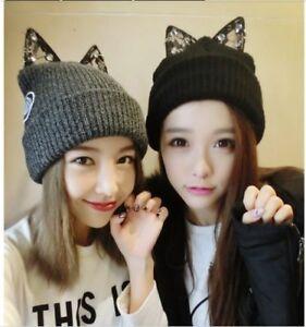 BONNET ANIMAL CHAT ADO ADOS ADOLESCENTE TEENAGER TEEN CAP YOUNG GIRL CAT