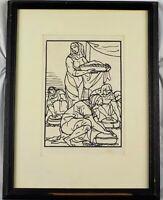 Antique Original 1930 Woodcut Illustration for Odyssee by Emile Bernard Listed