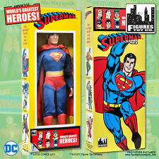 Official DC Comics Superman 8 inch Action Figure in Mego Style Retro Box