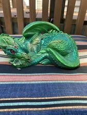 Vintage Windstone Editions Dragon Statue Mother Dragon RETIRED Emerald Pena 1985