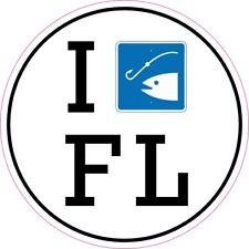 I FISH FLORIDA Round Vinyl Decal Sticker
