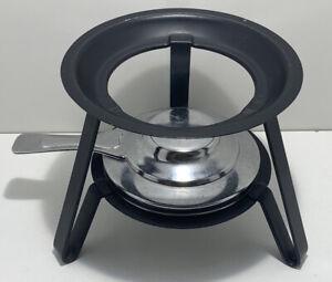 METAL FOOD WARMER CHAFING DISH FONDUE HEATER STAND