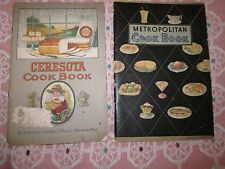 2 Antique Advertising cookbooks METROPOLITAN CERESOTA COOKBOOKS