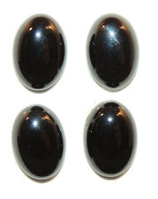 Black Agate 10x14mm with 5mm dome Cabochons Set of 4 (2066)