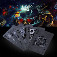 54pcs Waterproof Diamond Poker Standard Black Playing Card Magic Trick Tool Game