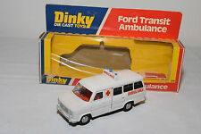 DINKY TOYS 274 FORD TRANSIT VAN AMBULANCE VERY VERY NEAR MINT BOXED