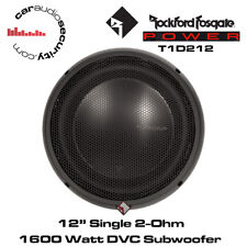 "Rockford Fosgate Power T1D212 - 12"" Power T1 2-Ohm DVC Bass Subwoofer 1600 Watts"