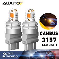 2X 24W 3157 LED Turn Signal Parking Amber Yellow Light Bulbs CANBUS Error Free