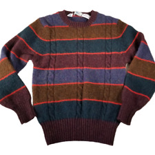 Izod LaCoste Wool Striped Sweater Womans Small Vintage 1970s Multicolor