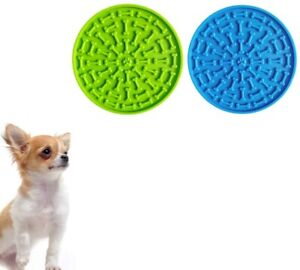 2Pcs【Dog Lick Pad】for Dogs Bathing Grooming Training Dog Lick Mat Slow Feeder