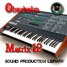 Oberheim MATRIX-12 Large Original Samples Library WAV/Kontakt format on DVD