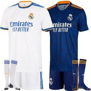 New 21/22 Club Kids Full Soccer Kits Boys Adults Custom Jersey Set Strips UK